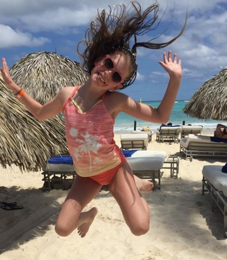 kid on vacation
