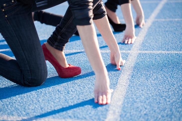 run in heels